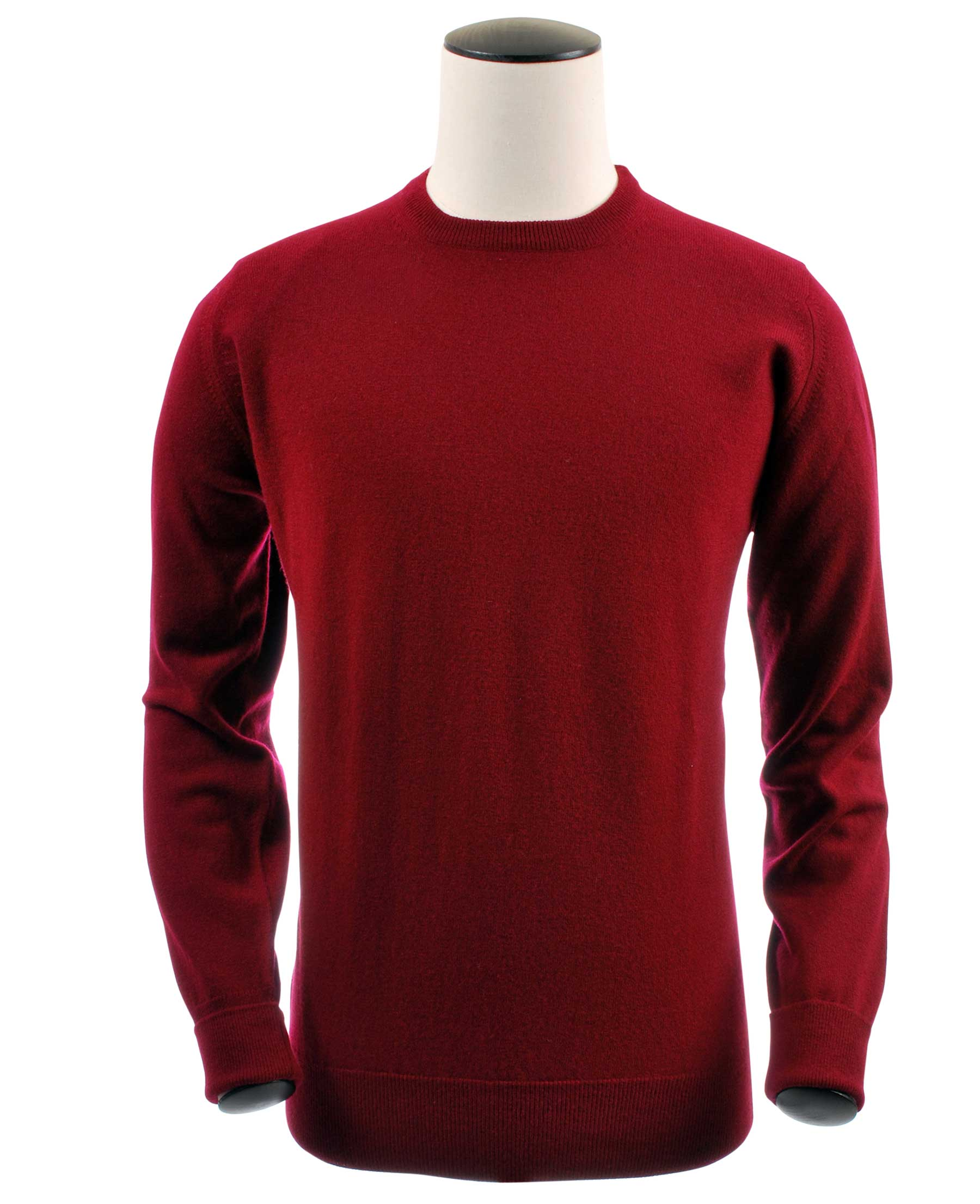 pull ras-de-cou, couleur claret en 100% geelong,Richie - Vêtements laine geelong