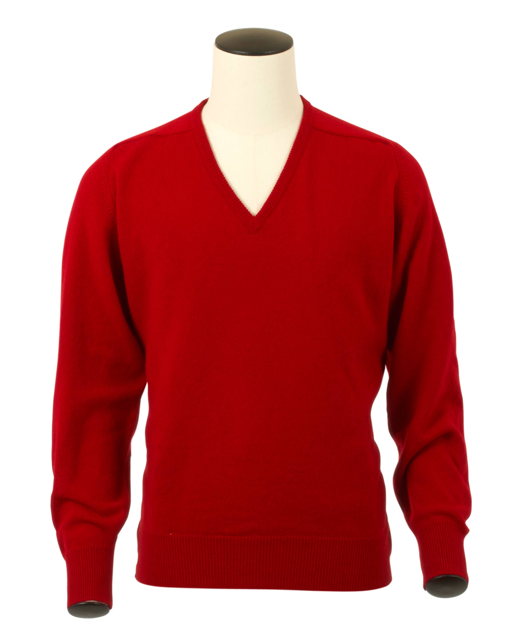 Scott, Couleur Chianti, Pull col V en 100% lambswool - Vêtements laine geelong