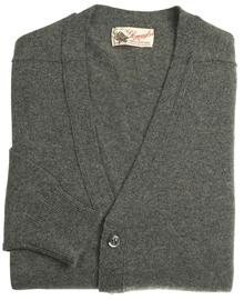 Bart homme lambswool gilet col-v gris cliff 7093 1