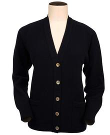 Bridget, Couleur Navy, Gilet col V en 100% lambswool - Vêtements laine geelong