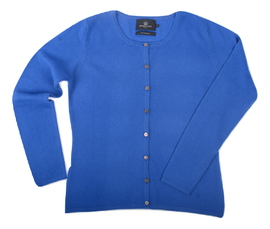 Cardigan cintré Cachemire Blue - Vêtements laine geelong
