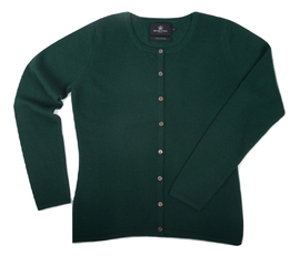 Cardigan cintré Cachemire Green - Vêtements laine geelong