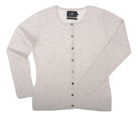 Cardigan cintré Cachemire Light Grey - Vêtements laine geelong