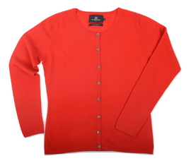 Cardigan cintré Cachemire Red - Vêtements laine geelong