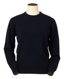 Connie, Couleur Navy, Pull Ras de cou en 100% lambswool - Vêtements laine geelong