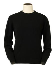 Connie, Couleur Black, Pull Ras de cou en 100% lambswool - Vêtements laine geelong