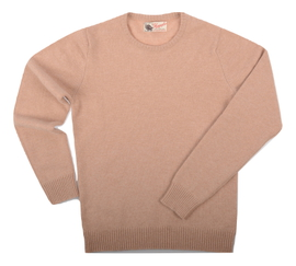 Connie, Couleur Oatmeal, Pull Ras de cou en 100% lambswool - Vêtements laine geelong
