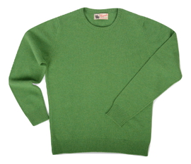 Connie, Couleur Watercress, Pull Ras de cou en 100% lambswool - Vêtements laine geelong