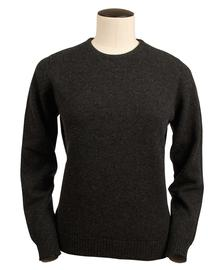 Connie, Couleur Charcoal, Pull Ras de cou en 100% lambswool - Vêtements laine geelong