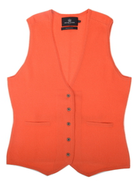 Gilet sans manches cintré Cachemire Orange - Vêtements laine geelong