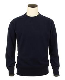 Logan, Couleur Navy, Pull Ras de cou en 100% lambswool - Vêtements laine geelong