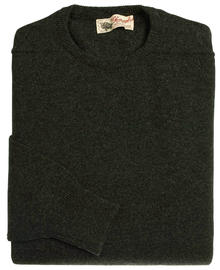 Logan homme lambswool pull ras-de-cou gris charcoal 7097 1