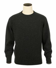 Logan, Couleur Charcoal, Pull Ras de cou en 100% lambswool - Vêtements laine geelong