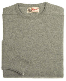 Logan homme lambswool pull ras-de-cou gris flannel 7097 1