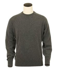 Logan, Couleur Mid Grey, Pull Ras de cou en 100% lambswool - Vêtements laine geelong