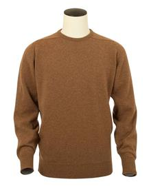 Logan, Couleur Savannah, Pull Ras de cou en 100% lambswool - Vêtements laine geelong
