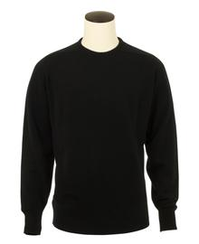 Logan, Couleur Black, Pull Ras de cou en 100% lambswool - Vêtements laine geelong