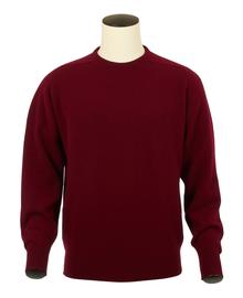 Logan, Couleur Bordeaux, Pull Ras de cou en 100% lambswool - Vêtements laine geelong