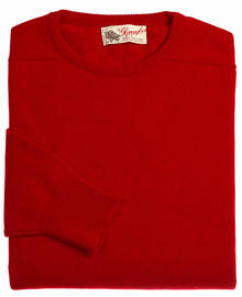 Logan homme lambswool pull ras-de-cou rouge chianti 7097 1