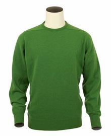 Logan, Couleur Watercress, Pull Ras de cou en 100% lambswool - Vêtements laine geelong