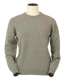 Connie, Couleur Grey Mix, Pull Ras de cou en 100% lambswool - Vêtements laine geelong
