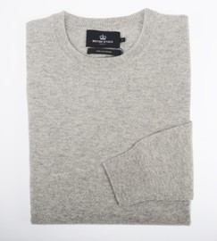 Ras de cou Cachemire Light Grey - Vêtements laine geelong