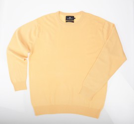 Ras de cou Cachemire Yellow - Vêtements laine geelong