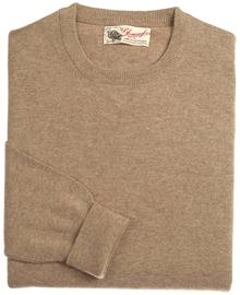 pull ras-de-cou, couleur dk-naturel en 100% geelong,Richie - Vêtements laine geelong