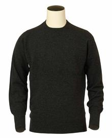 pull ras-de-cou, couleur charcoal en 100% geelong,Richie - Vêtements laine geelong