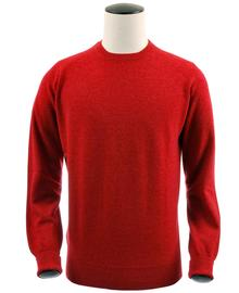 pull ras-de-cou, couleur poppy en 100% geelong,Richie - Vêtements laine geelong