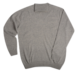 Col roulé Cachemire Light Grey - Vêtements laine geelong