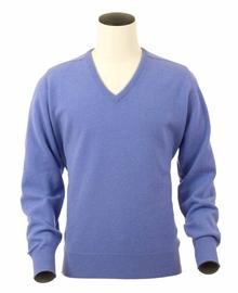 Scott, Couleur Labelia, Pull col V en 100% lambswool - Vêtements laine geelong