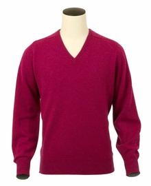 Scott, Couleur Vegas, Pull col V en 100% lambswool - Vêtements laine geelong