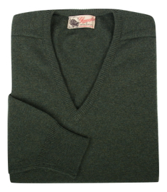 Scott, Couleur Rosemary, Pull col V en 100% lambswool - Vêtements laine geelong