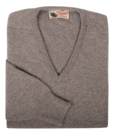 Scott, Couleur Vole, Pull col V en 100% lambswool - Vêtements laine geelong