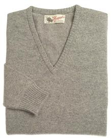Wendi femme lambswool pull col-v gris flannel aster 1