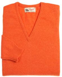 Wendi femme lambswool pull col-v orange inferno aster 1