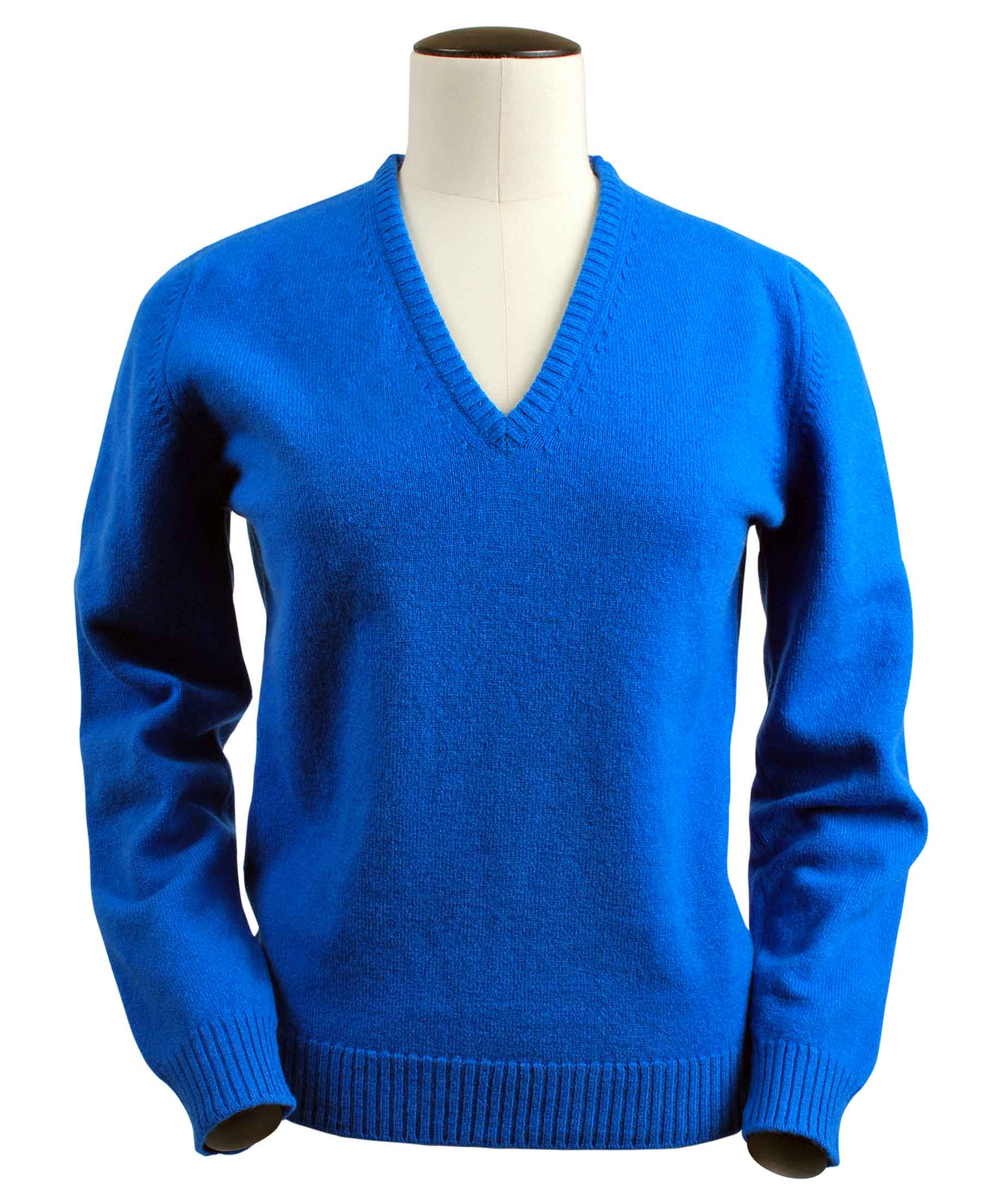 Wendi, Couleur Casino, Pull col V en 100% lambswool - Vêtements laine geelong